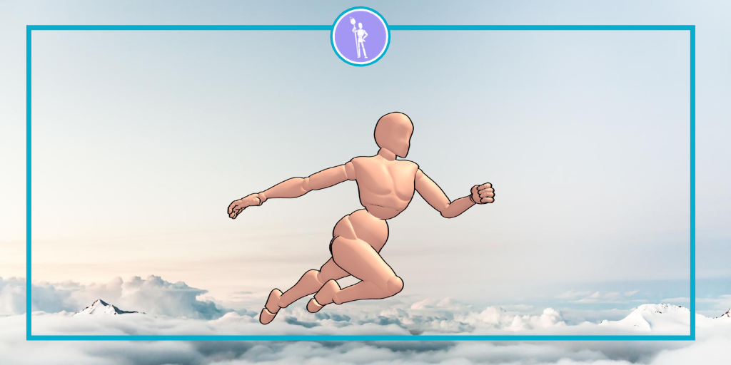 How to create a flying pose